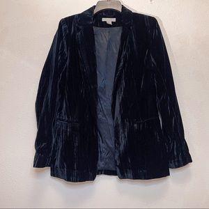 H&M Teal Velvet Blazer